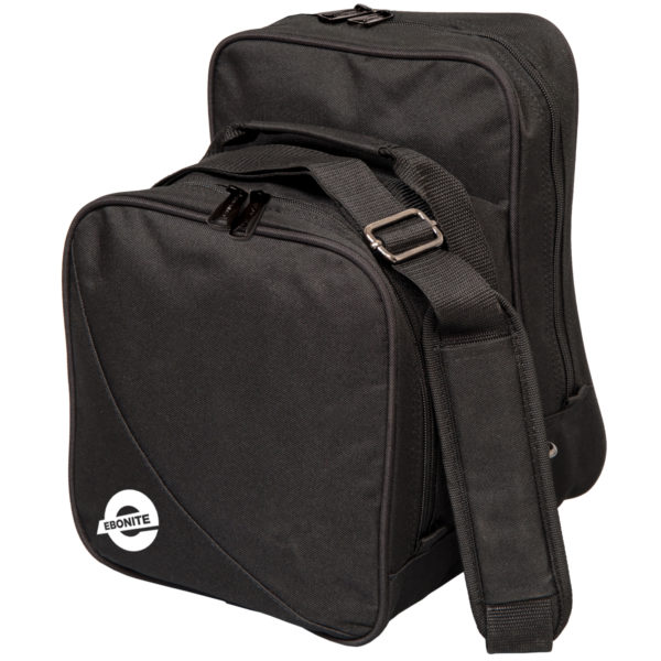 Compact one ball bowling bag black