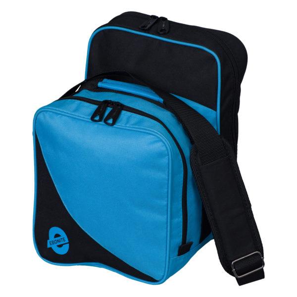 Compact one ball bowling bag blue