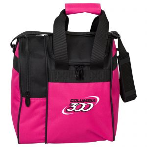 Columbia 300 Single Tote Pink Black Bowling Bag